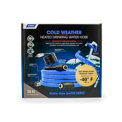 Heated Water Hose - Premium - 12'L - Drinking Water Safe
