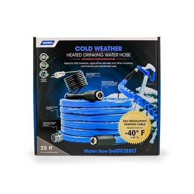 Heated Water Hose - Premium - 25'L - Drinking Water Safe