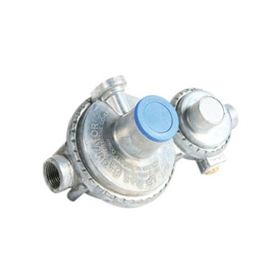 Propane Regulator - Camco 2-Stage Horizontal-Mount Regulator 1/4