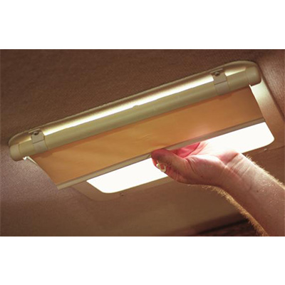 RV Vent Blind - Camco Lights Out Retractable Vent Shade Cream