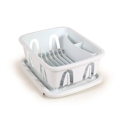 Dish Pan - Camco Mini Dish Drainer & Tray White