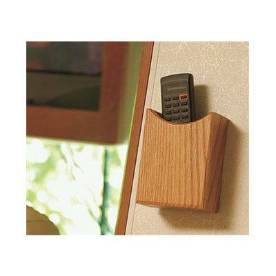 Remote Control Holder - Camco Oak Accents Wall Mount Remote Holder