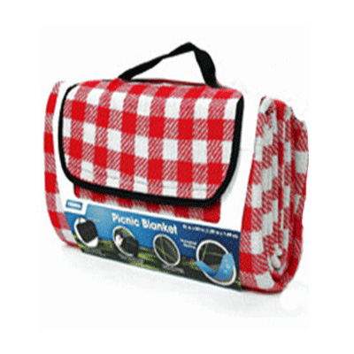 Picnic Blanket - Camco Picnic Blanket Red & White Checkered 51