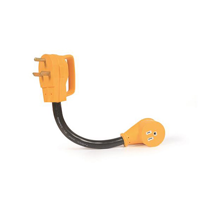 Power Cord Adapter - Power Grip 30A-M To 15A-F Dogbone 12