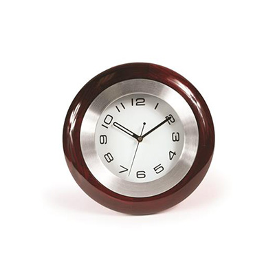 Clock - Camco Battery Operated Cherry Wood RV Clock With Mounting Bracket