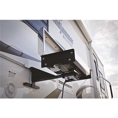 RV Barbecue Mounting Bracket - Camco Universal RV Grill Mount Black