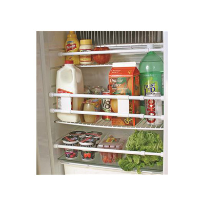 Refrigerator Bars - Camco Spring-Loaded Refrigerator Bars White