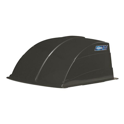 RV Roof Vent Cover - Camco Aerodynamic Exterior Roof Vent Cover Black