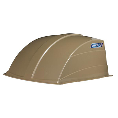 RV Roof Vent Cover - Camco Aerodynamic Exterior Roof Vent Cover Champagne