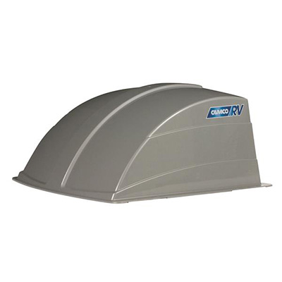 RV Roof Vent Cover - Camco Aerodynamic Exterior Roof Vent Cover Silver