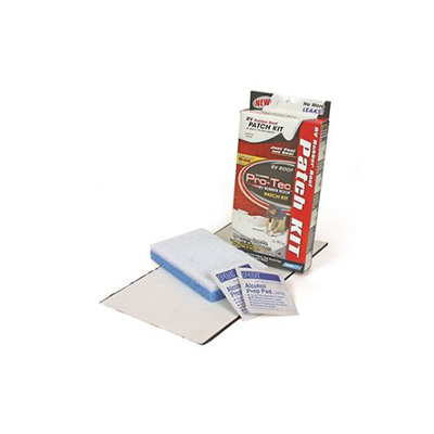 "Roof Patch - PRO-TEC RV Rubber Roof Repair Patch Kit - 6"" x 12"" -  White"