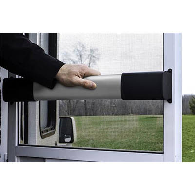 Screen Door Cross Bar - Camco RV Screen Door Cross Bar With Wide Grip Handle Black