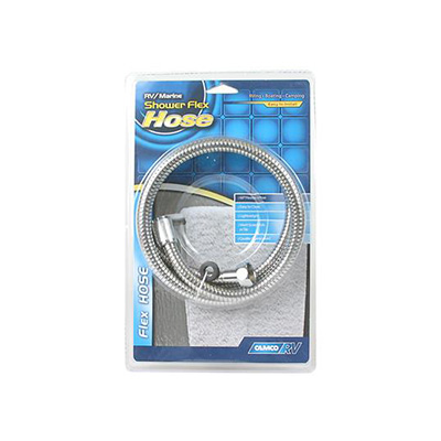 "Shower Hose - Camco 60""L Flexible Shower Head Hose - Chrome"