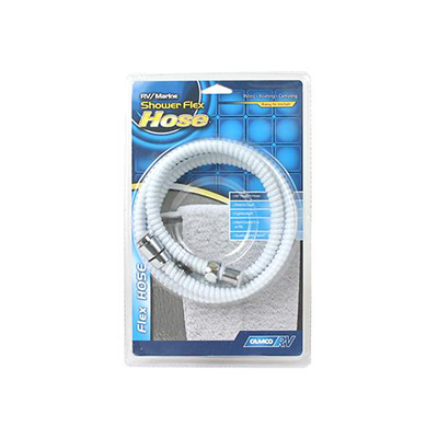 "Shower Hose - Camco 60""L Flexible Shower Head Hose - White"