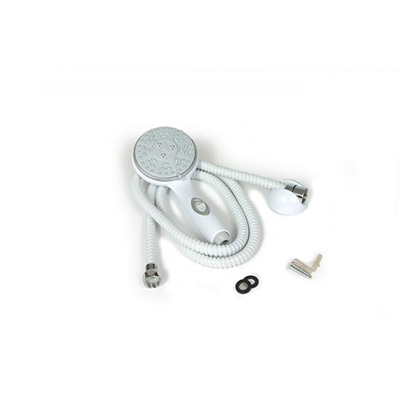 Shower Head - Camco Shower Kit Includes Head, Hose, Mount And Hardware - White