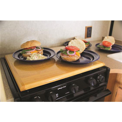 RV Range Covers - Silent Top Stove Top Cover Oak Accents