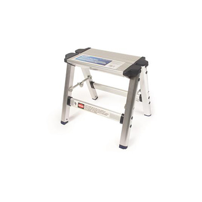 Step Stool - Camco Aluminum Step Stool With Folding Legs & Plastic Feet - 200 Lbs Capacity