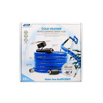 Heated Water Hose - Thermostat - 25'L - Drinking Water Safe
