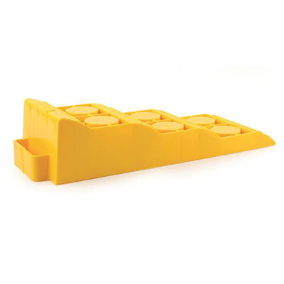 Ramps - Tri-Leveler Ramp With Built-In Handle Yellow