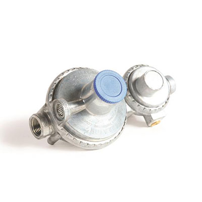 "Propane Regulator - Camco 2-Stage Vertical Mount Propane Regulator 1/4""FNTP x 3/8""FNTP"