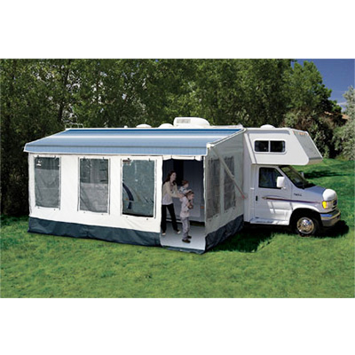 Screen Rooms - Buena Vista RV Screen Room Fits Awning 14'L To 15'L