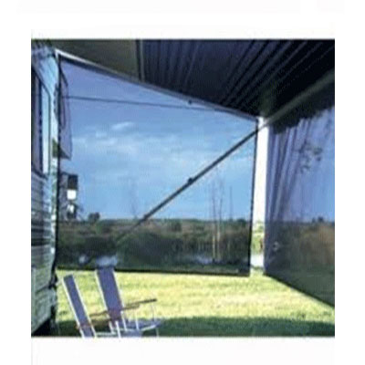 Awning Sun Block Panel - SideBlocker Awning Sun Block Panel 6'H x 8'L Black
