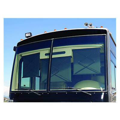 Motorhome Windshield Blind - Carefree SmartVisor With Left Side Control 12V Black
