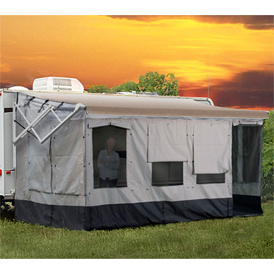 Screen Rooms - Vacation'r RV Screen Room Fits Awning 16'L To 17'L