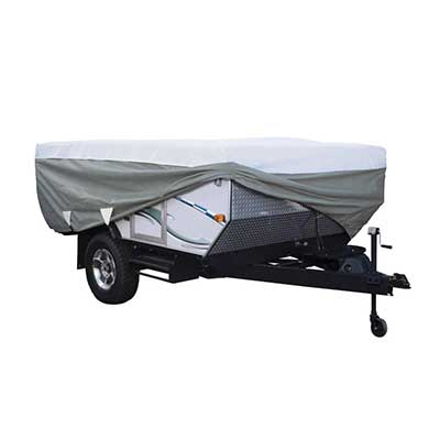 Pop-Up Camper Cover - PolyPRO 3 Deluxe All Season Cover With Storage Bag 8'L To 10'L