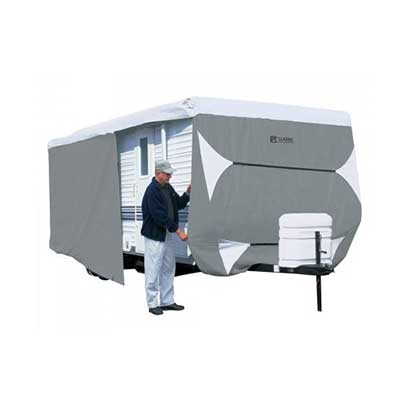 Travel Trailer Cover - PolyPRO 3 Deluxe All Season Cover With Storage Bag 33'L To 35'L