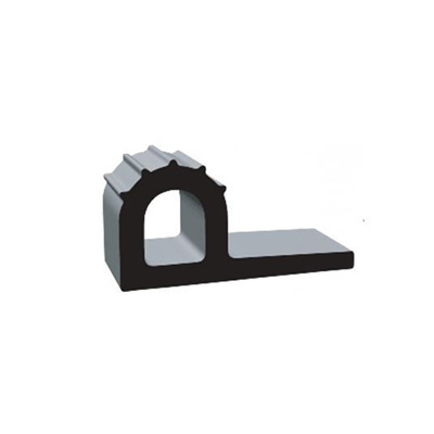 RV Seals - Clean Seal Ribbed EPDM P Seal With Adhesive Tape 2