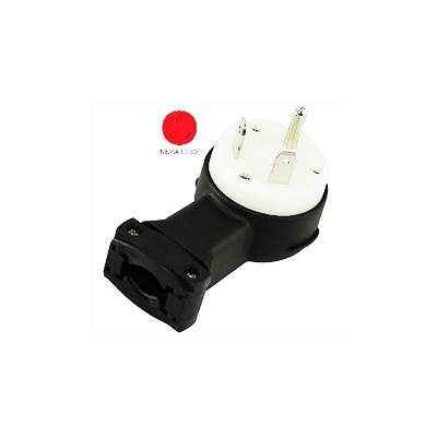 Power Cord Plug End - Conntek Male Power Cord Plug End 30A - Black
