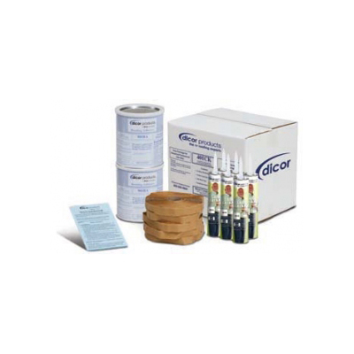 Roof Install Kit - Dicor EPDM And TPO Installation Kit With Glue, Tape And Lap Sealant - Ivory