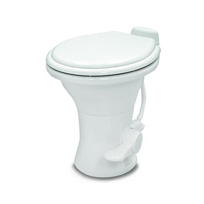 "RV Toilet - Dometic 310 Series Foot Pedal Flush Toilet 18"" With Hand Sprayer - White"