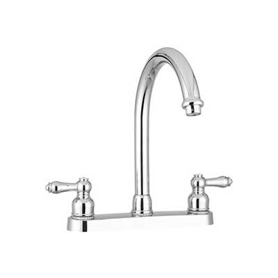 Sink Faucet - Dura Faucet Kitchen Sink Faucet With High-Rise Spout Chrome