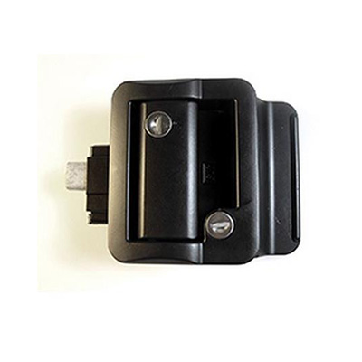 RV Door Latch - Fastec RV Entrance Door Latch With Deadbolt Black
