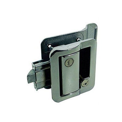 RV Door Latch - Fastec Door Lock/Latch With 2 FIC Keys - Chrome