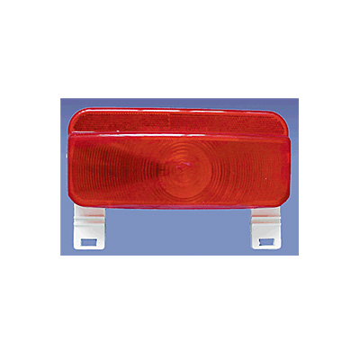 Trailer Tail Lights - Fasteners Unlimited Stop & Turn Tail Light With Plate Holder Red