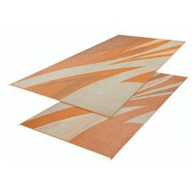 Mats - Faulkner Waves 8' x 16' Outdoor Mat - Tan And Gold