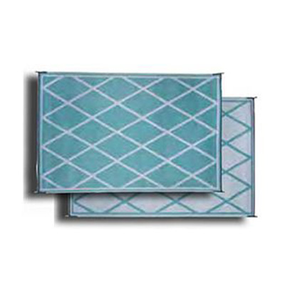 Camping Mats - Faulkner - Diamond - 9 x 12 Feet - Turquoise And White
