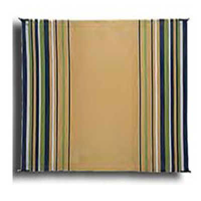 Camping Mats - Faulkner Striped Mat 9' x 12' - Navy/White/Lime/Beige