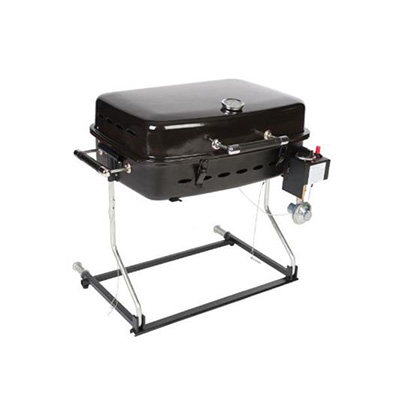 Barbecues - Faulkner Propane Grill With Stand Alone Bracket & RV Mount Black 12000 Btu