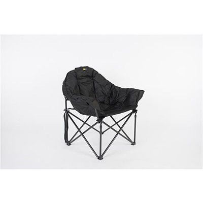 Camping Chairs - Faulkner Big Dog Bucket Chair With Carry Bag - Black