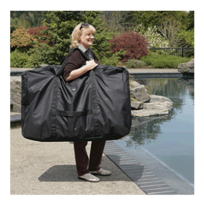 Camping Chair Carry Bag - Faulkner Vinyl-Coated Polyester Chair Storage Bag Black