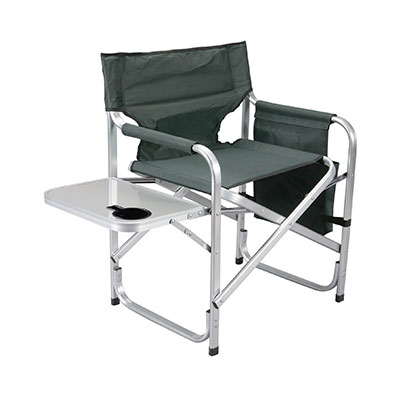 Camping Chairs - Faulkner Director-Style Folding Chair With Tray & Side Pouch - Green