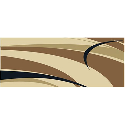 Camping Mats - Faulkner Graphic-Design Mat 9' x 12' - Brown & Beige
