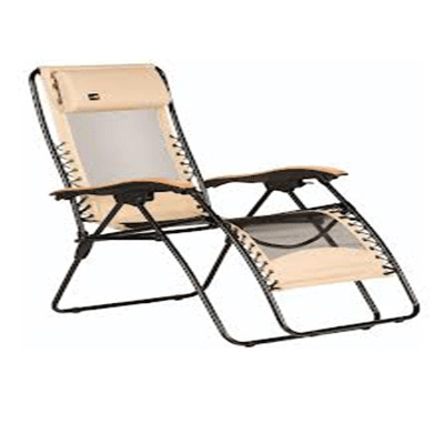 Zero Gravity Recliners - Faulkner - XL - Polycotton Fabric With Mesh - Beach Sand