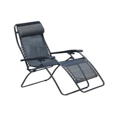 Chairs - Faulkner XL Zero Gravity Recliner With Polyester Mesh - Black