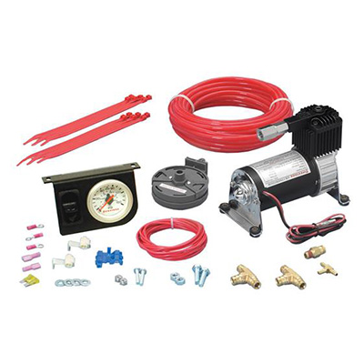 Helper Spring Kit - Level Command II Helper Spring Kit With Air Compressor, Gauge & Lines