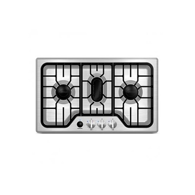 Gas Cooktop - Furrion 3-Burner Drop-In-Counter Propane Cooktop Stainless Steel